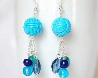 The weight of blue - Earrings
