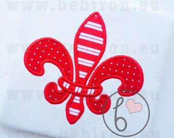Fleur De Lis Applique Design Machine Embroidery Pattern Instant Download