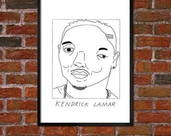 Badly Drawn Kendrick Lamar - Hip Hop Poster