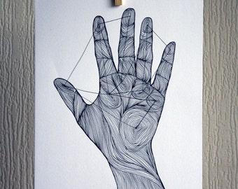 Hand - A4 Unframed Inkjet Print