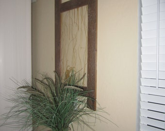 Beautiful, one of a kind pallet frame with decorative resin panel