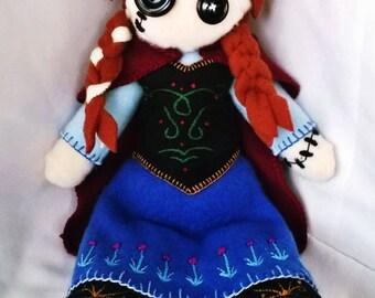 Frozen Anna Plush Fleece Doll