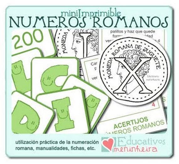 Imprimible Nmeros Romanos espaol