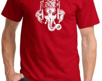 Yoga Clothing For You Mens Ganesha Head Tee Shirt = PC61-HEAD