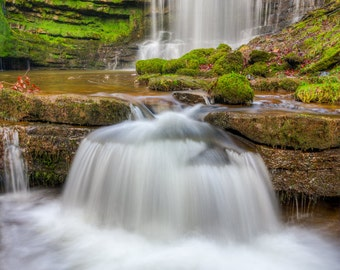 Scalebar Force - Waterfall - Yorkshire Dales - United Kingdom - Landscape Photograph - Fine Art Print