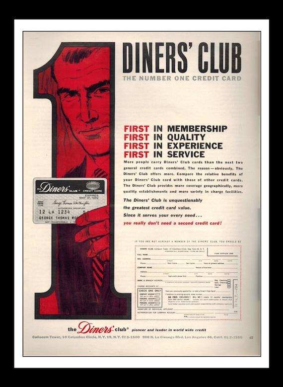 Vintage Print Ad 1960's : Diners' Club The  Vintage Print A...