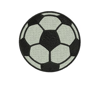 Soccer Ball Embroidery Design - 3 sizes Instant Download