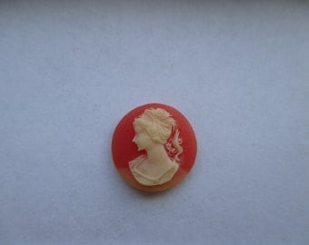 16mm Round Carved Celluloid Cameo. Item:BC818465