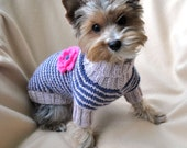 Small Dog Sweaters Hand Knit Dog Sweater Knit Dog Clothing Pet Clothing Knitting dog sweater