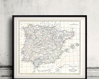 Map of Spain and Portugal, by Clement Cruttwell - 1799 - SKU 0175