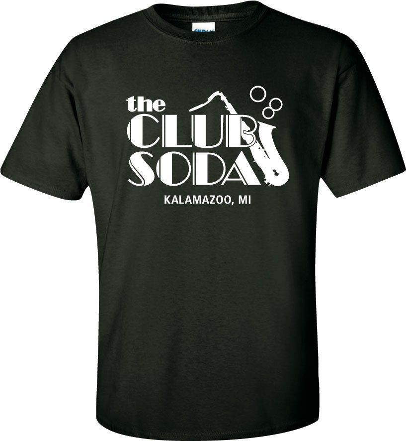 Club soda tee for T shirt printing kalamazoo