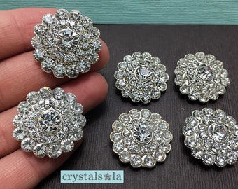 Crystal Buttons - BT80 - 6pcs