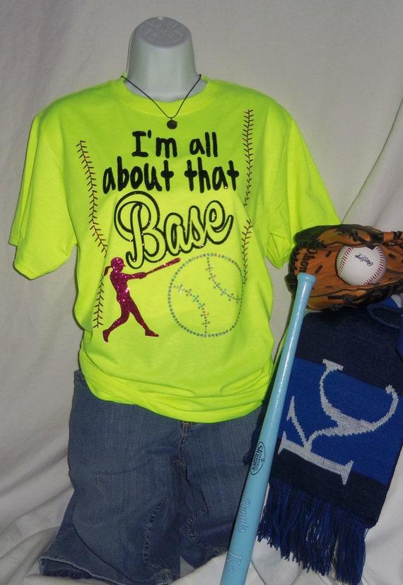 Yellow Softball Shirts Softball Shirt All About That