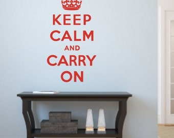 Keep Calm and Carry On Wall sticker / Wall Decal / Wall Art by Createworks WA205X
