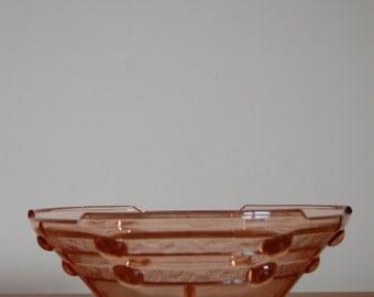 SALE 50% OFF Vintage brown glass bowl