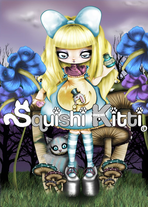 Alice in wonderland chibi anime originale opera d 39 arte for Crea il tuo personaggio anime