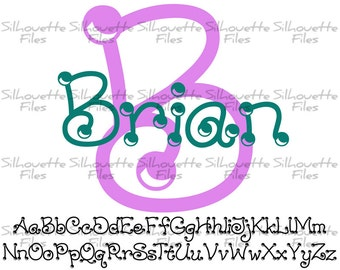 Dots Font Design Files For Use With Your Silhouette Studio Software DXF Files SVG Font EPS Files Svg Fonts Dots Silhouette