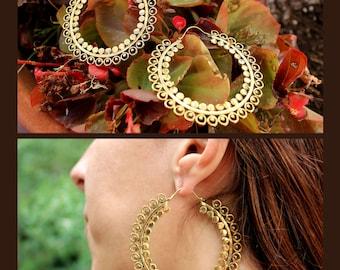Big Brass Hoop Earrings