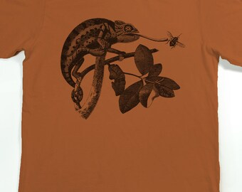 Men's T-shirt - Chameleon Shirt - Lizard Tshirt - Lizard Graphic Tee Shirt