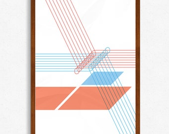 Entanglement - Geometric Print by AC Creative Online