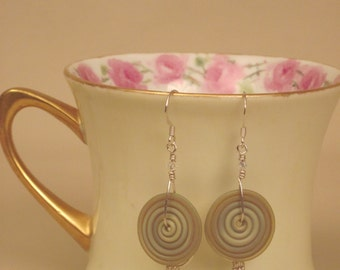 Lampwork & Sterling Silver Earrings