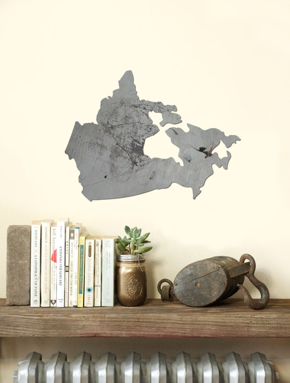 Wall Decor Out Of Wood : Items similar to canada country wood cut out silhouette