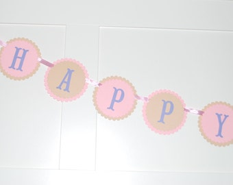 Candy Happy Birthday Banner, Candy Party decorations, Girl candy party, Birthday Banner, cupcake banner, candy theme party