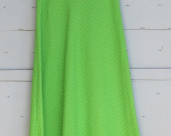 1960s acid green Maxi dress