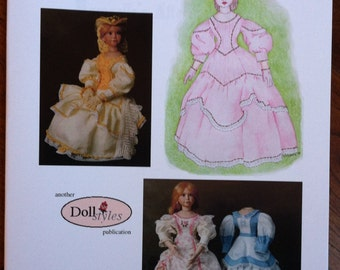 Mamzelle's Afternoon Dress - instructional book on making a doll dress, costuming, 28 pages of patterns, design, techniques, history,