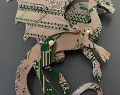 Green Dragon Brooch - circuit board.