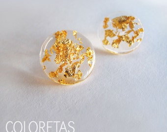 Golden Flakes small earrings