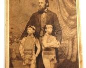 Rare Antique CDV WAINO PLUTANO Wild Men of Borneo Little People Circus Sideshow Souvenir Barnum Bailey Photo Photograph Dwarf Midget c 1880