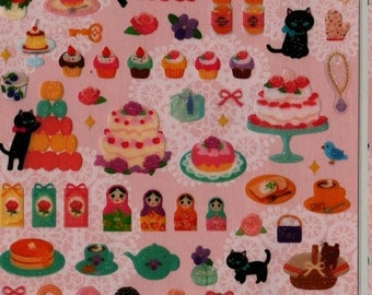 SAN-X Palette's Sweet Street Sticker Set 5