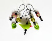 stitch markers knitting / bird garden flower / accessory gift / row counter tool / snag free stitchmarkers / popular knitter gift tool