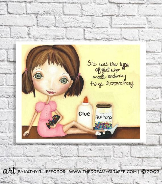 Little Girls Bedroom Print Tween Room Decor Unique Nursery Art Pictures With Quote Gift For Crafty Girl Sewing Room Ideas Craft Room Sign