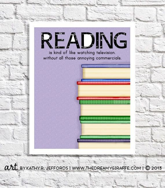 Items Similar To Home Library Decor Librarian Gift Kids Reading Nook Reading Poster Classroom