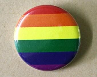 Gay Rainbow Pride Flag Pinback Button Badge