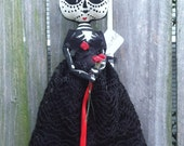 Day of The Dead Doll Primitive Folk Art