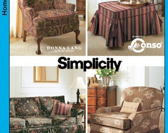 5383 Simplicity Pattern Uncut Slipcover Wing Back Chair