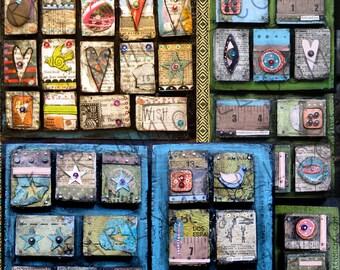 INSTANT DOWNLOAD - Art Journal Digital Collage Sheet