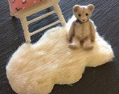 Dolls House Miniature Sheepskin Faux Fur Rug