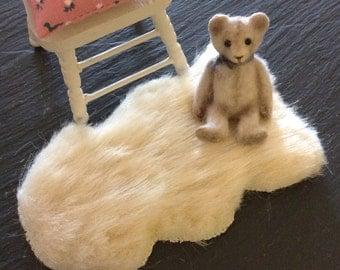 Dolls House Miniature Sheepskin Faux Fur Rug