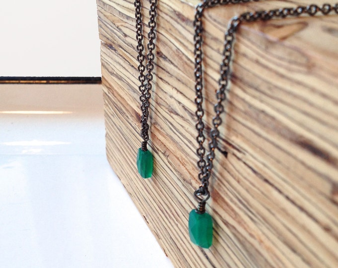 Clearance Sale: **READY TO SHIP** Minimalist Necklace. Apatite.