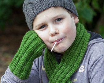 Child's Cable Knit Beanie / Hat in Donkey by Sheeps Clothing