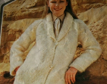 2f46aab40e Easy Knitting Pattern Jacket Cardigan Sweater Wendy 2028 Women Sizes 32 -  40 Inches 81 - 102 cm Bulky Weight Yarn Paper Original NOT a PDF