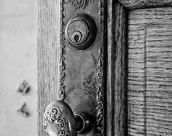 Instant Download Decorative Doorknob door knob Black and White Print Digital Download CU Commercial Use