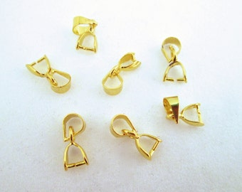 Ice Pick Pinch Bails, Gold Plated, 3.5x13mm long, Pick your Amount, A45
