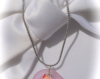 Necklace,Jewelry,Sea Glass,Seaglass necklace,Ice Cream cone,recycled sea glass,Ice cream bead,beach glass jewelry,sea glass jewelry,charms