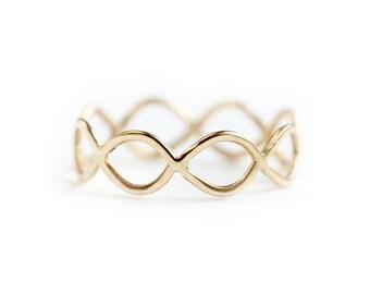Gold wedding band - 14k gold ring - 14k gold wedding ring - 14k gold stacking ring
