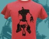 Mens Tshirt -  Helping Hands shirt - Unisex Robot and Child Tee